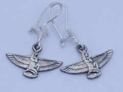 isis silver earings (hallmarked)