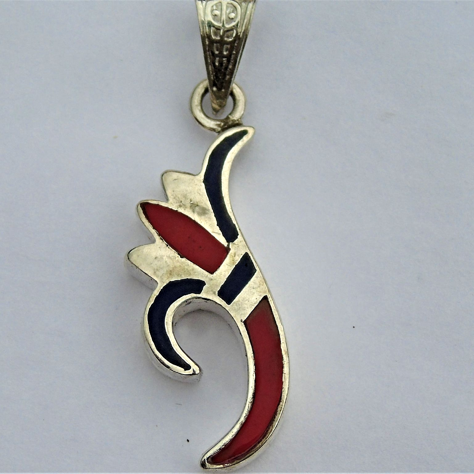 Lotus flower 925 silver pendant with lapis red coral hallmarked lotus flower silver pendant with lapis red coral hallmarkedlove and rebirth mightylinksfo